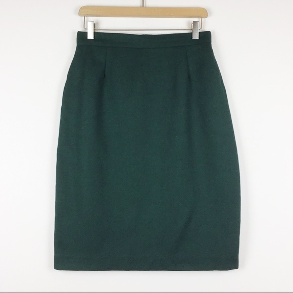 Vintage Dresses & Skirts - Vintage high waisted wool blend mini skirt green